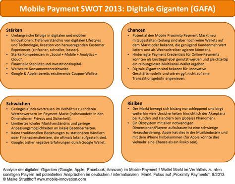 mobile payment swot  haben die digitalen giganten die