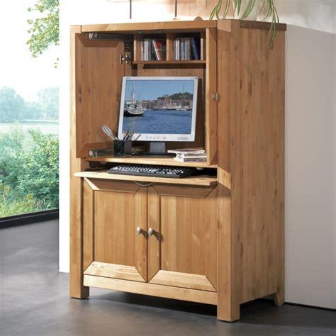 bureau informatique bois armoire informatique et bureau pour ordinateur modernes
