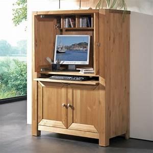 Meuble Pour Bureau : armoire informatique et bureau pour ordinateur modernes ~ Teatrodelosmanantiales.com Idées de Décoration