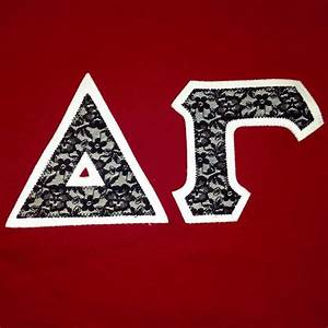 deltagamma dg lace sorority greekletters customgreek With design your own sorority letters