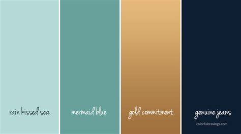 color palette dreamup studios blue green gold navy