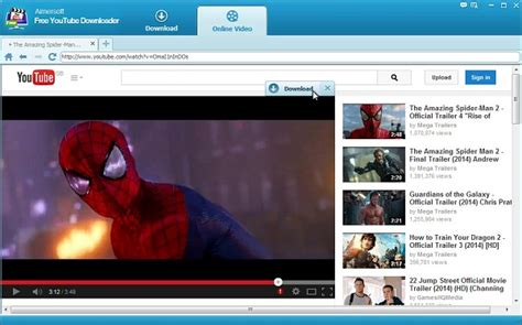 Aimersoft Free Youtube Downloader Guide De L'utilisateur