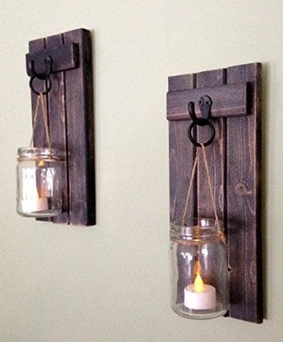 wooden candle sconces for the wall rustic wall decor wall sconce rustic wall