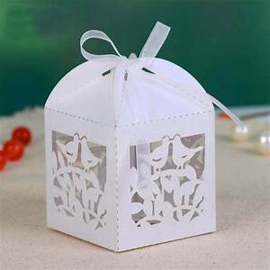 wedding party favors laser die cut candy chocolate boxes With wedding party favor boxes