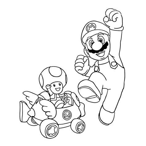 Kleurplaten Mario Bros by Leuk Voor Mario Toad