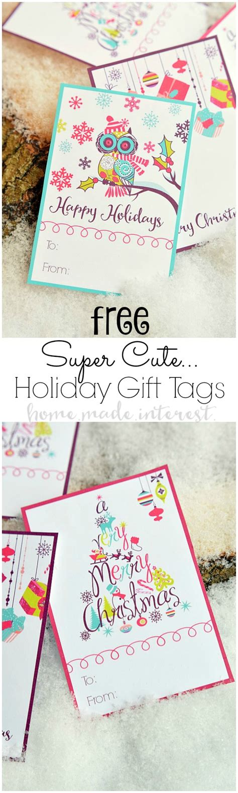 Super Cute Holiday Gift Tags  Free Printable! Home