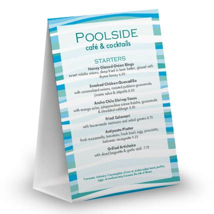4x6 table tent template poolside table tent table tent 4x6 table tent