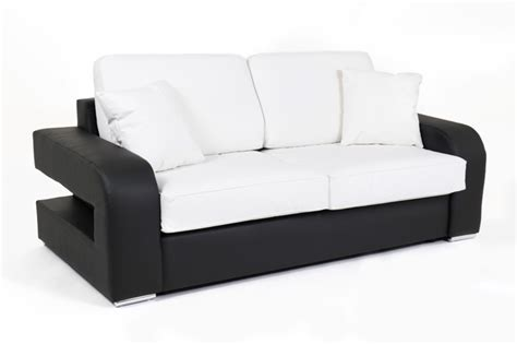 canapé convertible couchage 160 canape convertible couchage 160 cm alban wilma noir