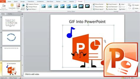 powerpoint insert animated presentation create