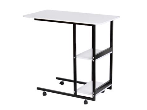Laptop Stand Table On Wheels Side Table With Shelves 70x40