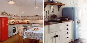 pour une deco style fifties choisissez un frigo au design With style de cuisine annee 50