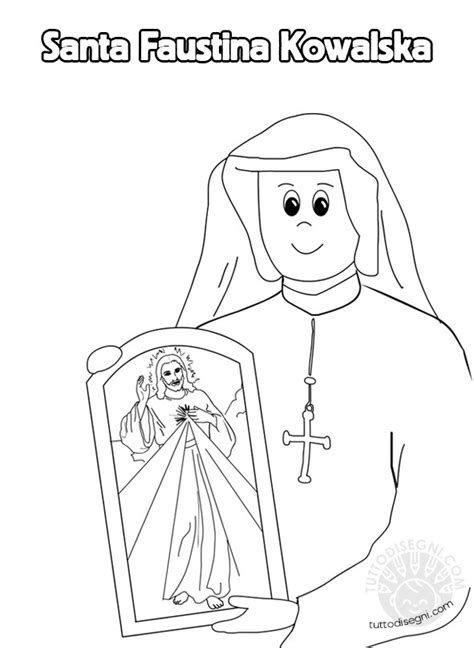 santi da colorare santa faustina kowalska tuttodisegnicom