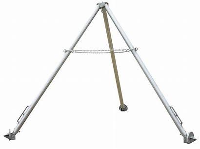 Hoist Tripod Vestil Stand Tri Portable Stands