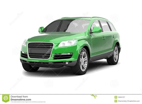 Luxury Green Crossover Suv Royalty Free Stock Photography