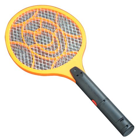pic mosquito killer 3 layers net dry cell hand racket electric swatter home garden pest control insect bug bat wasp