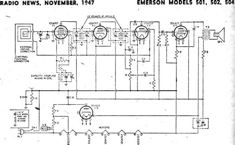 Emerson Models 501, 502, 504 Schematic & Parts List ...