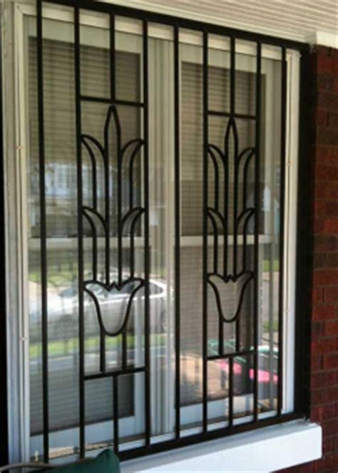 security window bars burglar bars quick release window