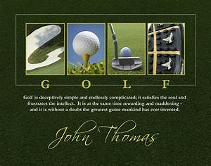 personalized golf letter art 11 x 14 high definition print With personalized golf letter art