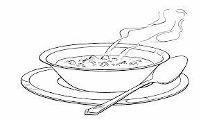 Image result for bowl of soup clipart black and white ...