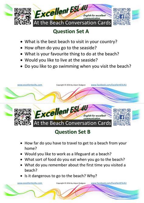 esl   beach conversation