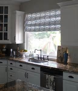 stenciled faux shades tutorial kitchen sneak