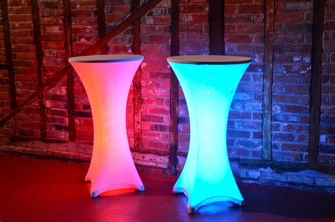 led poseur table hertfordshire events weddings dj