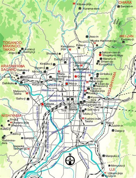map  kyoto buddhist temples shinto shrines