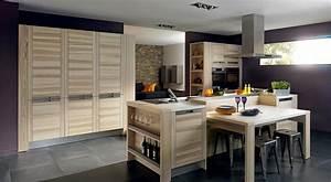 cuisine bois With idee deco cuisine avec modele de cuisine moderne en bois
