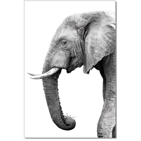 black  white elephant print modern furniture
