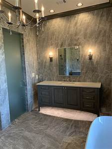 Floor, To, Ceiling, Master, Bath, With, His, And, Hers, Vanities