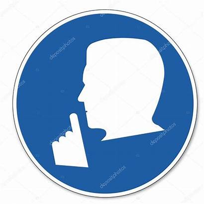 Quiet Sign Please Safety Commanded Pictogram Silence