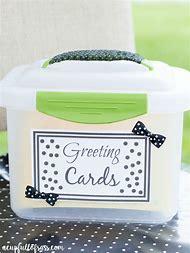 Greeting Card Organizer Box
