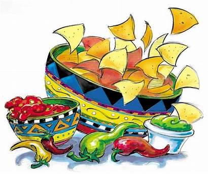 Clipart Salsa Nachos Chips Clip Nacho Cliparts