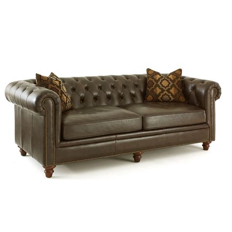 Pillows For Leather Sofa by Steve Silver Tusconny Leather Sofa With 2 Accent Pillows