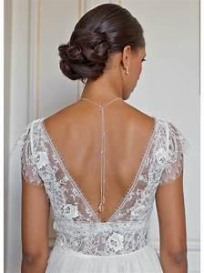 quotlounaquot collier de mariee avec long bijou robe dos nu With robe de mariée avec achat bijoux or