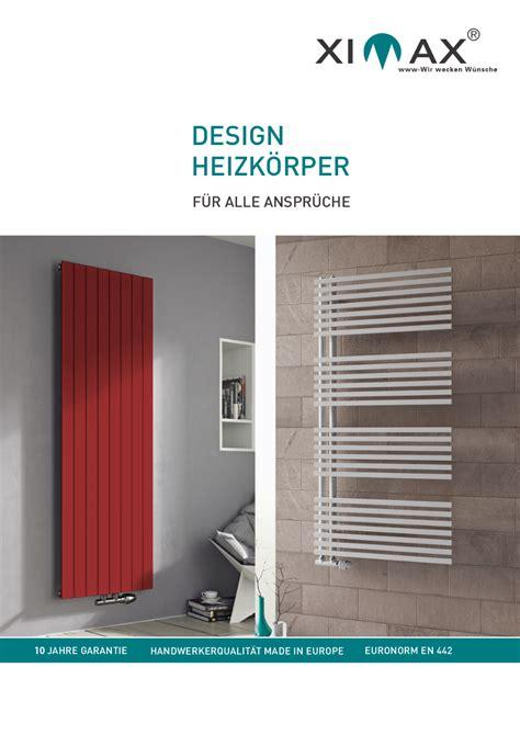 Heizkörper Flach Design by Ximax Prospekte