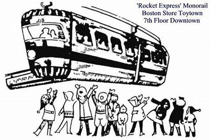 Boston Monorail Milwaukee Memories Rocket Express Ride