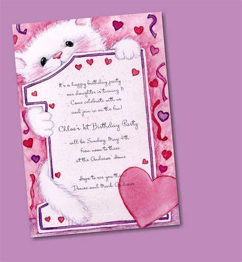 write  birthday invitation card
