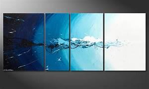 Tableau D École Mural : le tableau mural water splash 170x70cm tableaux xxl ~ Melissatoandfro.com Idées de Décoration