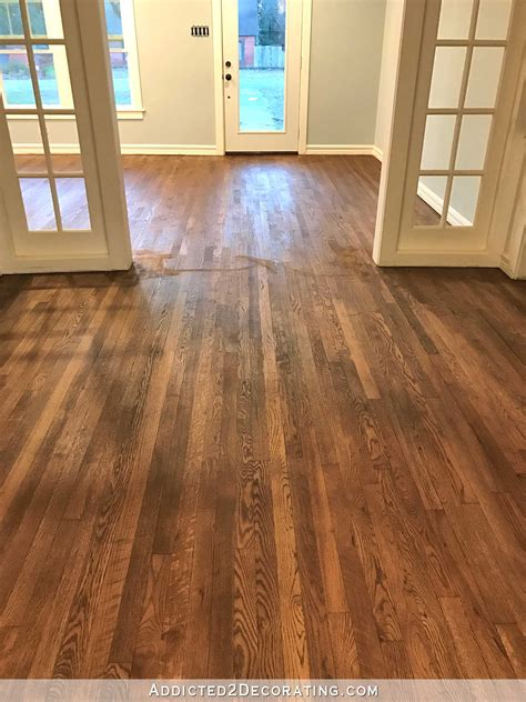 hardwood flooring stain adventures in staining my red oak hardwood floors products process