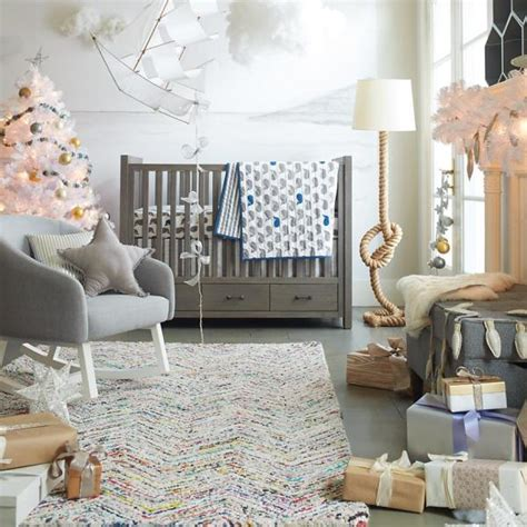 bedroom grey crib and fluffy grey rocking chair