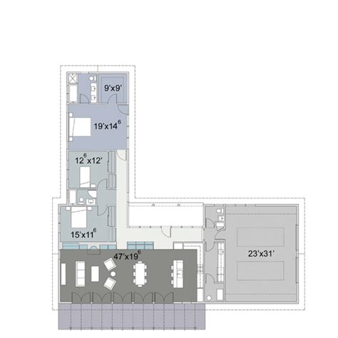 shaped house plans