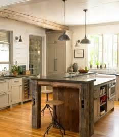 wood island kitchen 32 simple rustic kitchen islands amazing diy interior home design
