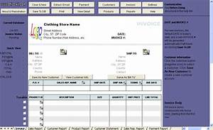 clothing store invoice template uniform invoice software With store invoice template