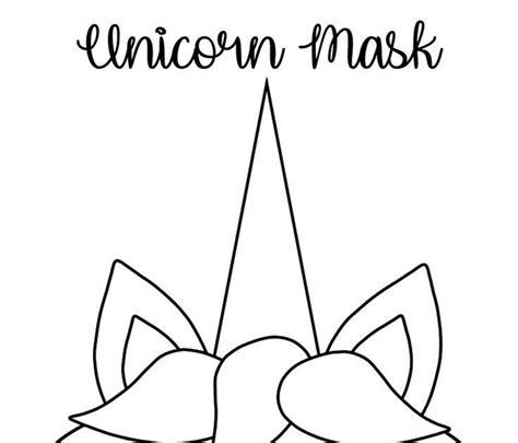 coloring unicorn mask   mask template printable printable coloring masks toddler