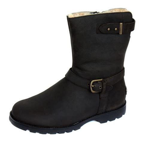 biker boot style ugg boots grandle womens black biker style suede boot ebay