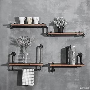 Etagere Metal Cuisine : d corations murales loft tag re en fer tag re murale ~ Premium-room.com Idées de Décoration