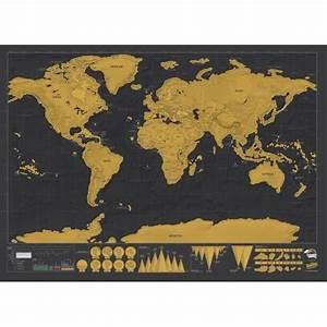 Carte Du Monde Deco Murale : carte du monde gratter luxe cadeau maestro ~ Dailycaller-alerts.com Idées de Décoration