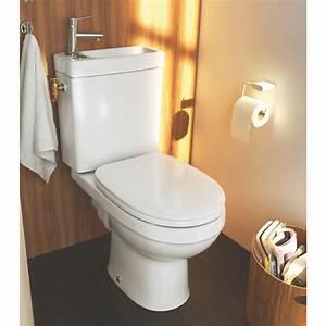 Lavabo Pour Toilette : toilette avec lave main integre castorama maison design ~ Edinachiropracticcenter.com Idées de Décoration