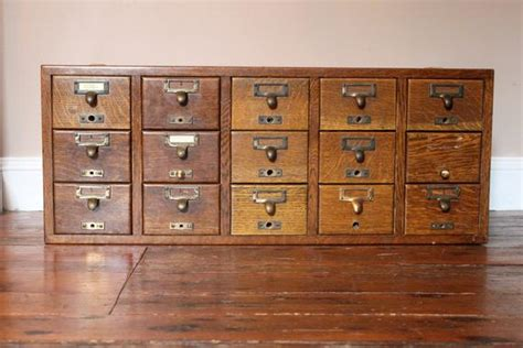 Vintage Library Card File Cabinet by Items Similar To Reserved For Bob Vintage Library Card
